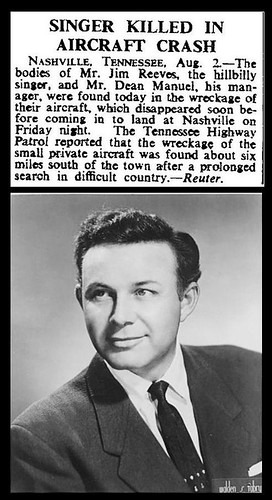 31st July 1964 - Death of Jim Reeves | by Bradford Timeline
