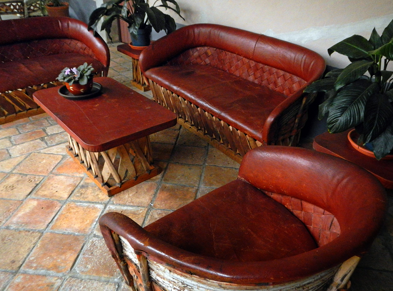 ... Traditional Mexican Leather Furniture In The Lobby Of A San Sebastian  Hotel, Mexico   By