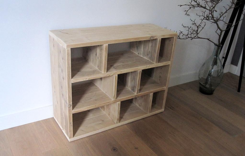 boekenkast roomdivider letterbak steigerhout te koop bij w00tdesign by w00tdesign