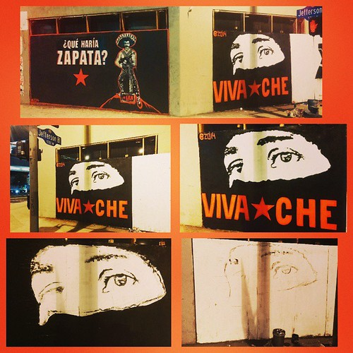 15'x8'Freestyle hand painted Marcos eyes another addition to Vivache's Street Art Gallery on the corner ofJefferson & La Cienega. More to come Sunday!    #losangeles #StreetArtGallery #VivaChe #VivaCheMan #EZLN #subcomandantemarcos #Marcos #revolution #re | by VIVACHE
