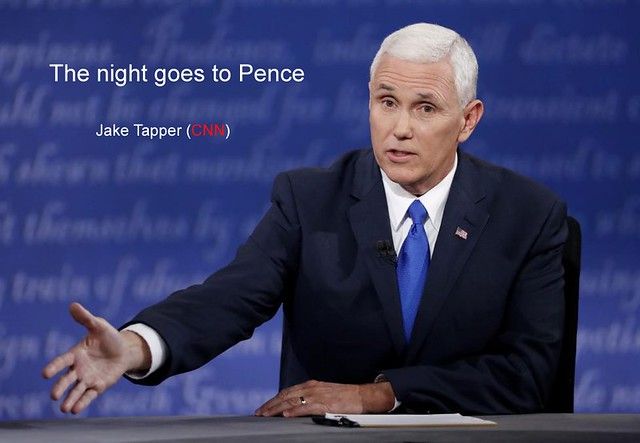 The night goes to Mike Pence