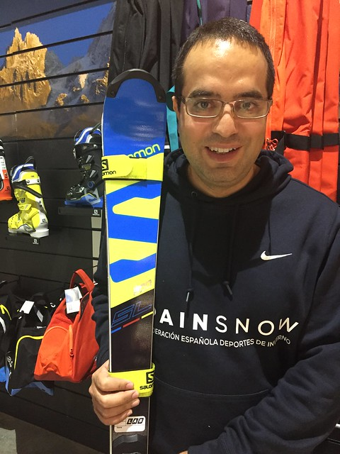 Nacho con los Salomon X-Race Lab 165