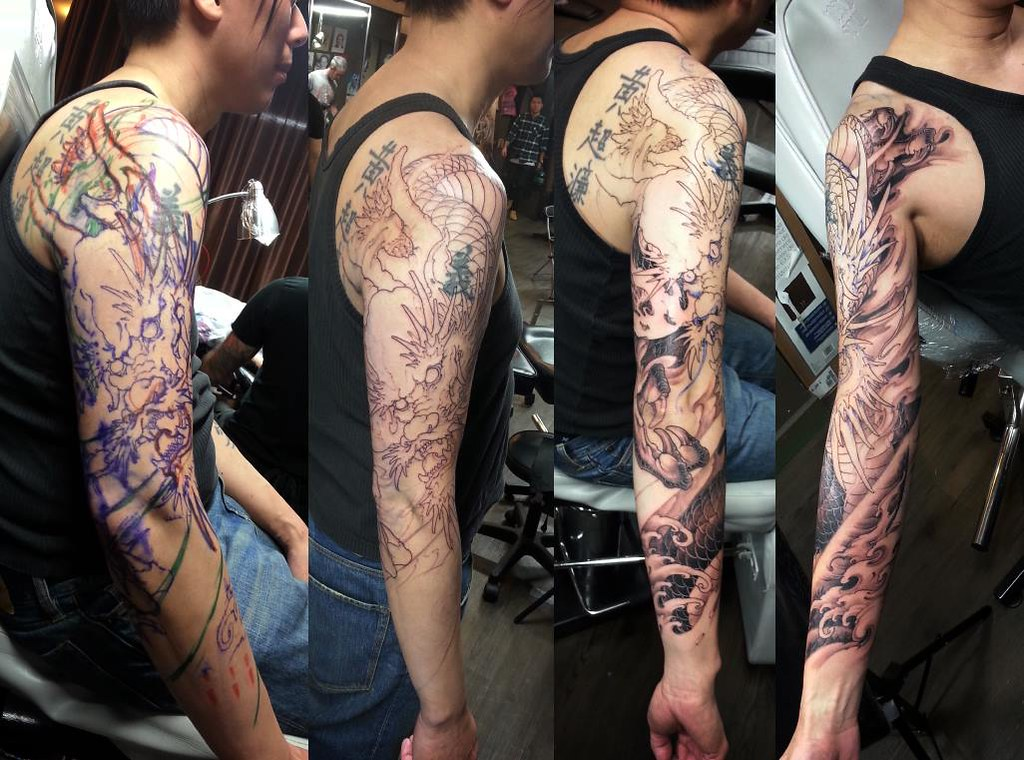 dragon tattoo in progress with tony hu chronic ink tor flickr