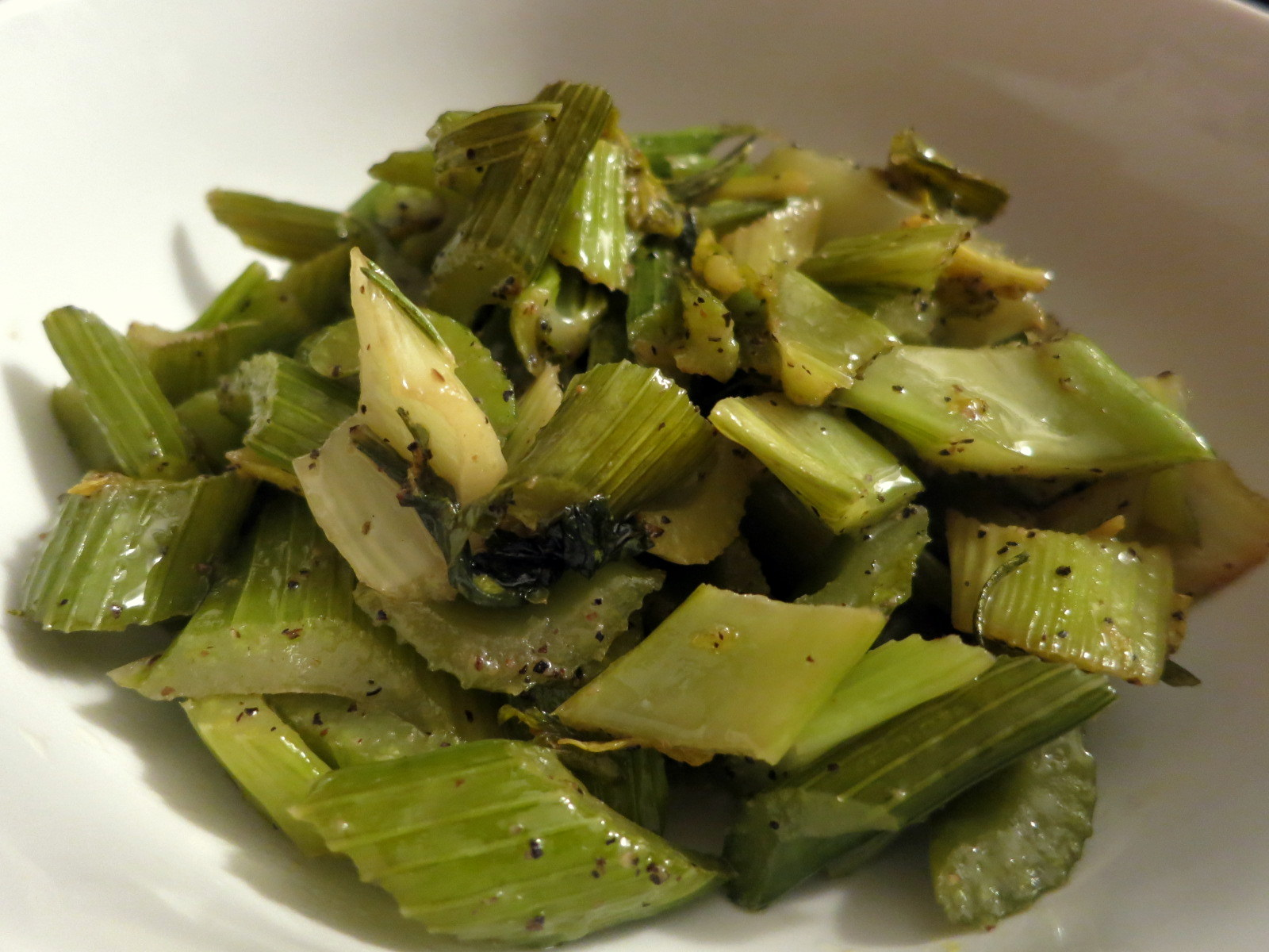 Butter-braised celery