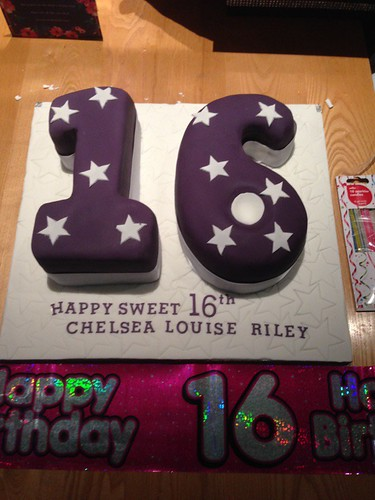 Purple Themed 16th Birthday Cake | by platypus1974