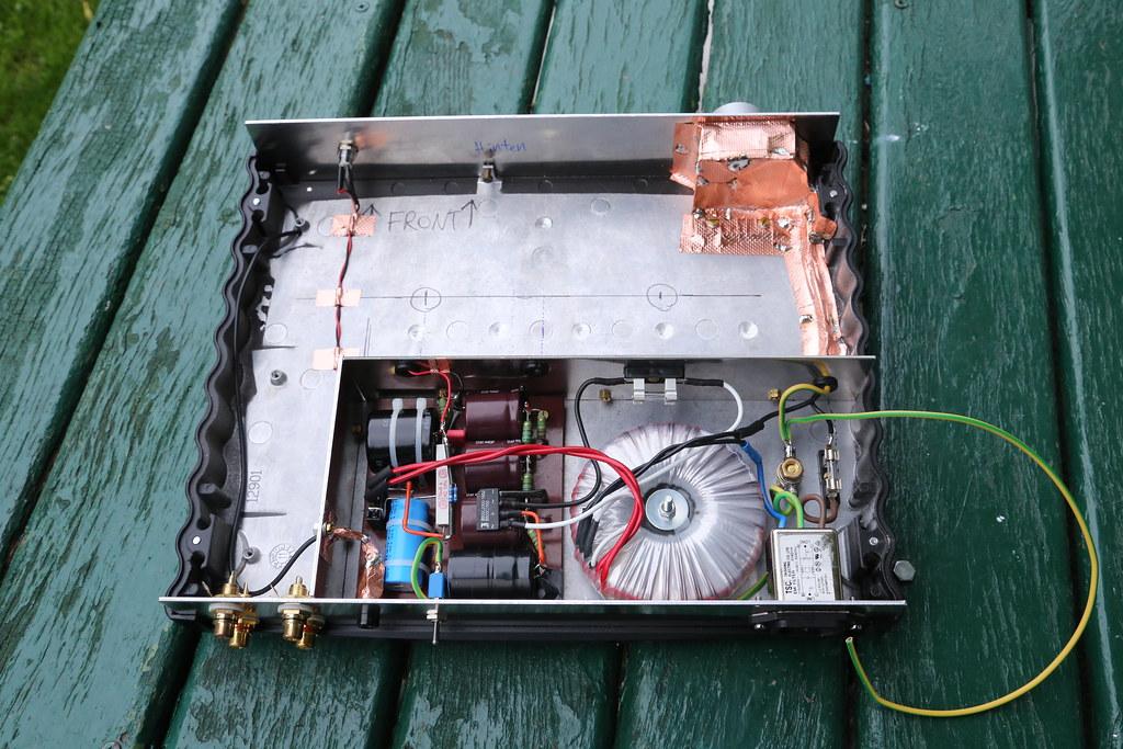 Phono-Preamp - Verdrahtung | Fertig aufgebautes und abgeschi… | Flickr