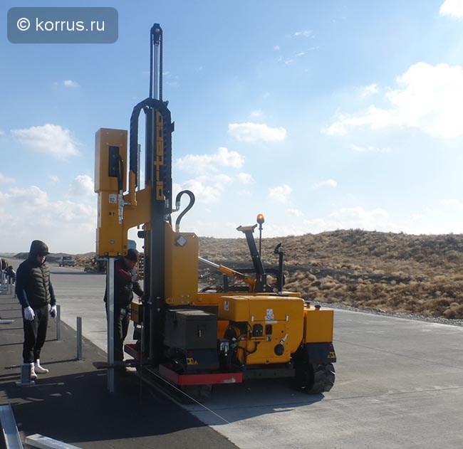Ортеко в Казахстане на бетонной дороге