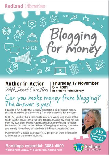Blogging for money workshop