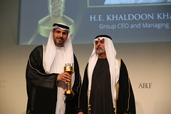H.E. Khaldoon Khalifa Al Mubarak, Group Chief Executive Officer & Managing Director	Mubadala, UAE, receiving the ABLF Global Asian Award from H.H. Sheikh Nahayan Mabarak Al Nahayan, Minister of Culture and Knowledge Development, UAE