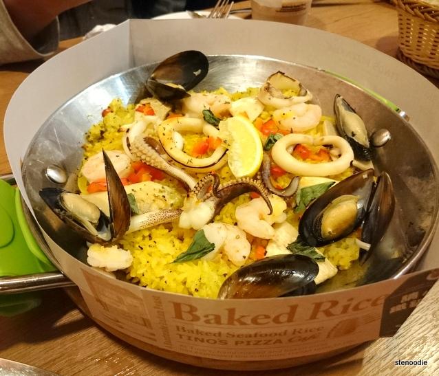 Italian Seafood Baked Rice