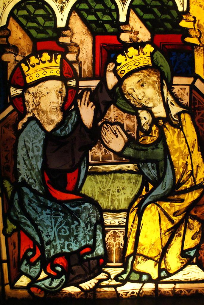 Vitraux au musée gothique du couvent Saint Agnès à Prague.