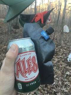 Post-hike cocktail of Ale8 and bourbon | by eiratansey