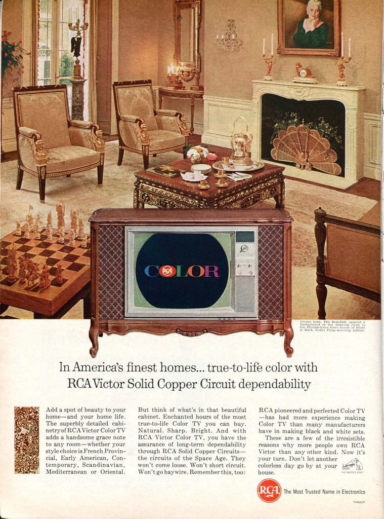 1965 RCA Victor Color TV Advertisement Newsweek October 18