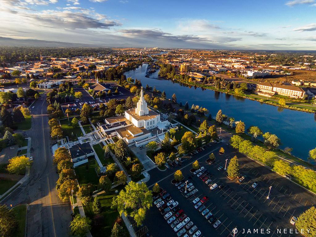 ... Aerial Idaho Falls   by James Neeley
