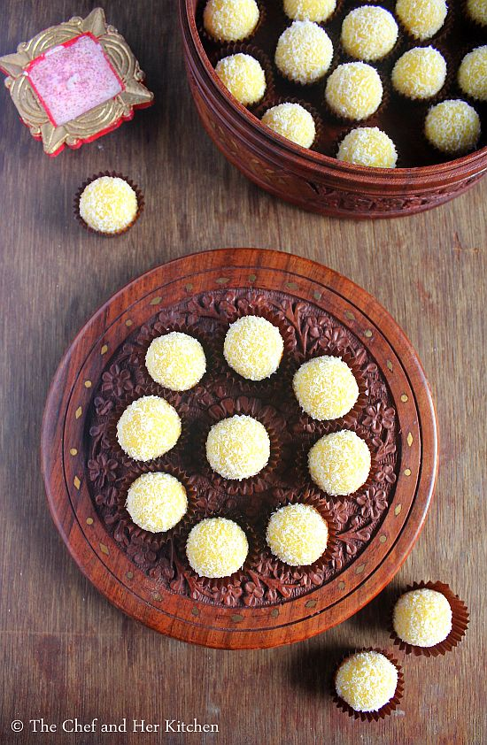 desiccated coconut ladoo
