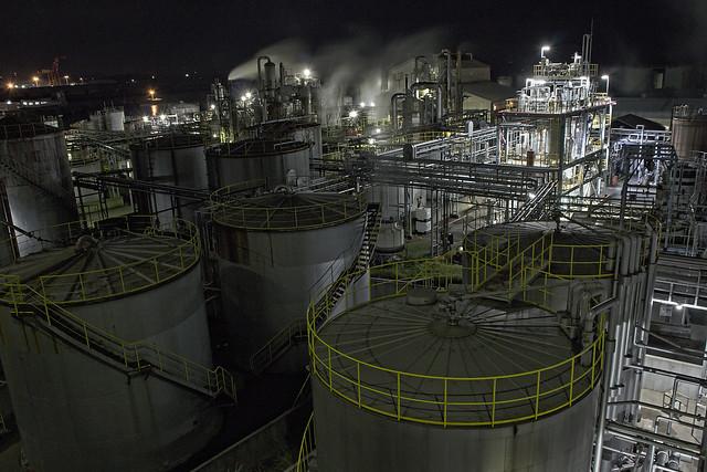 青岸エネルギーセンター夜景f