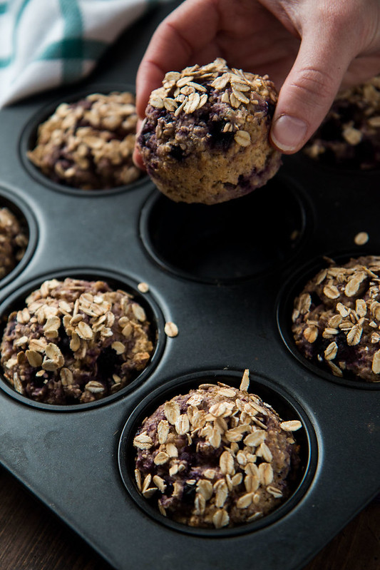 Blueberry Oat Breakfast Muffins (vegan, gluten-free, refined sugar free) | Will Cook For Friends