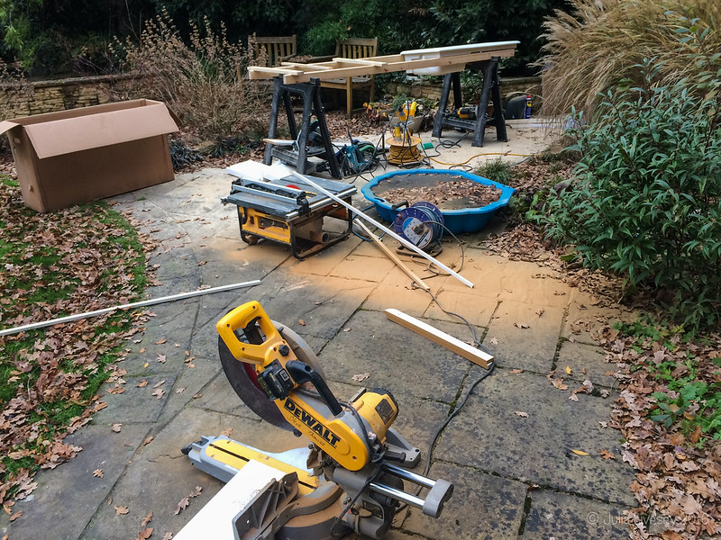 There was a plethora of power tools in the garden