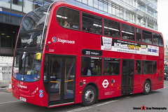 Alexander Dennis Trident Enviro 400 - SN14 TYU - 12317 - Stagecoach - London - 140926 - Steven Gray - IMG_0144