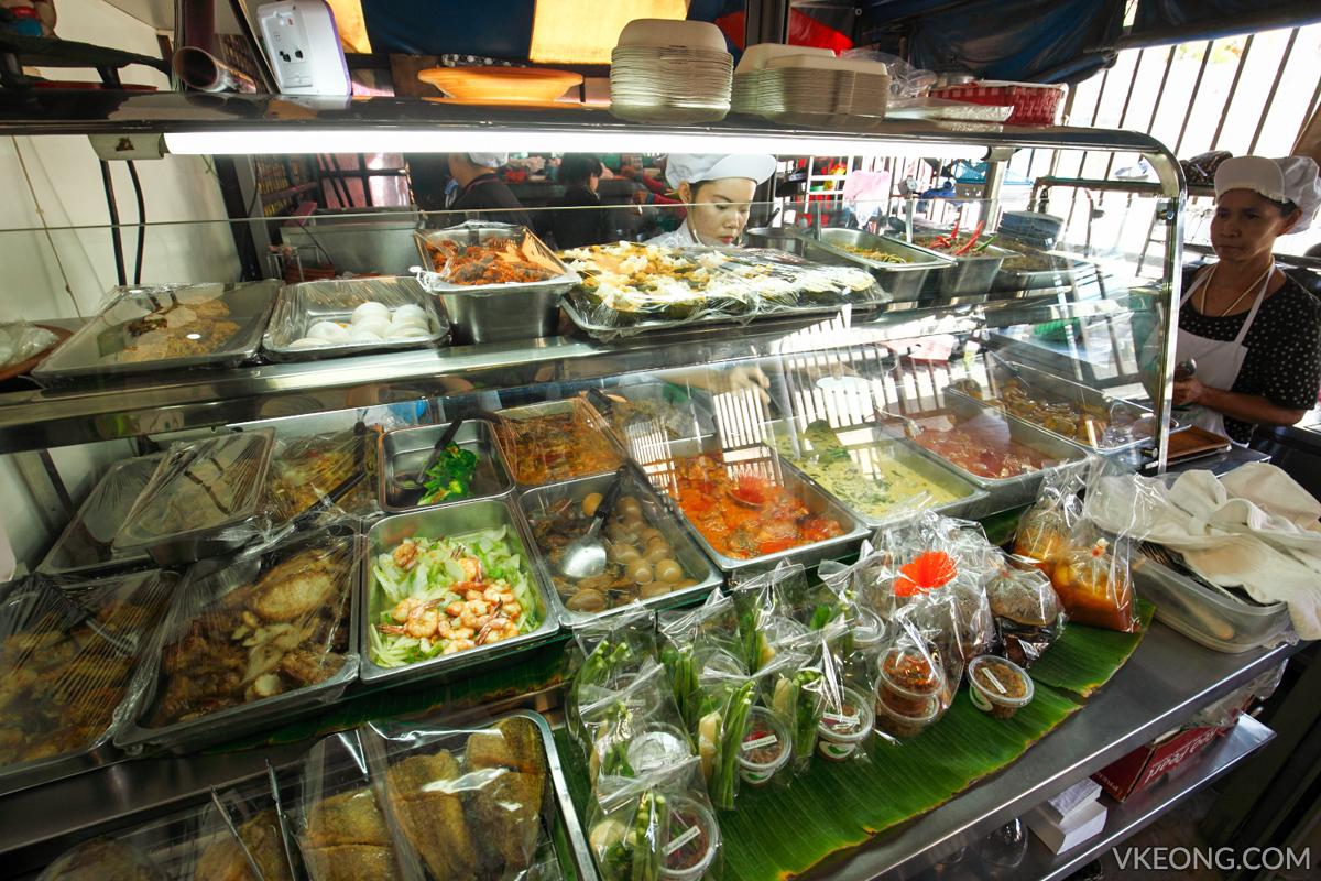 Prik Yuak Green Chilli Chatuchak Weekend Market Food Counter