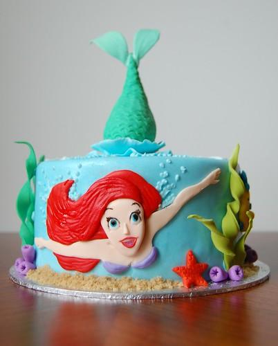 D Little Mermaid Cake