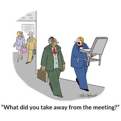What did you take away from the meeting?