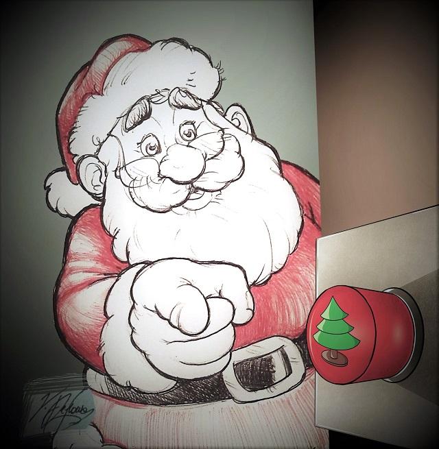 Noicattaro. Vignetta Accensione Albero di Natale intero