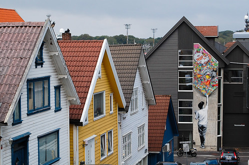 Martin Whatson graffiti in downtown Stavanger