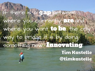 #Innovation is about the gap @timkastelle | by mrkrndvs