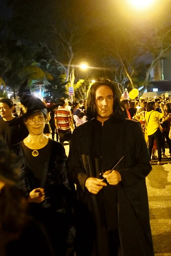 Professor McGonagall with Snape. Halloween 2016 at Woodgrove, Woodlands, Singapore