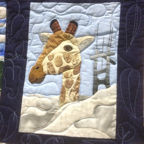 Zoo Holiday~ Giraffe Detail~Quilt by Nancy S Brown & The Bulbs | by Pam from Calif