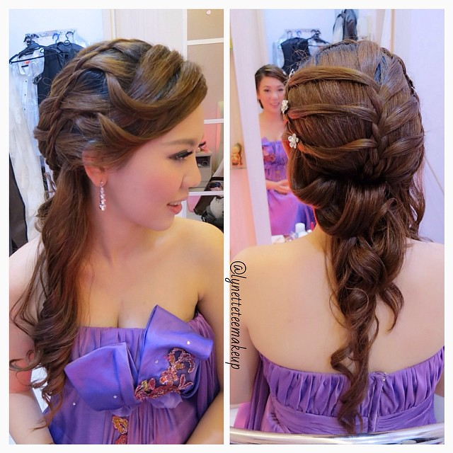 Admirable Wedding Dinner Makeup Amp Hairdo Elegant Waterfall Braided Flickr Short Hairstyles Gunalazisus