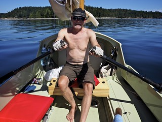 no wind meant many miles of rowing on the hottest day of our voyage | by Dale Simonson