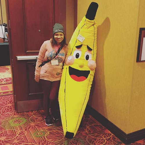 Me with a giant banana! #ChambanaCon 