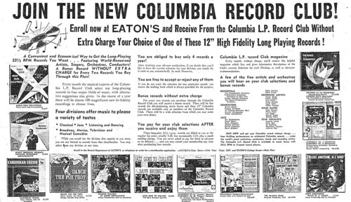 Vintage Ad: Join the New Columbia Record Club | by jbcurio