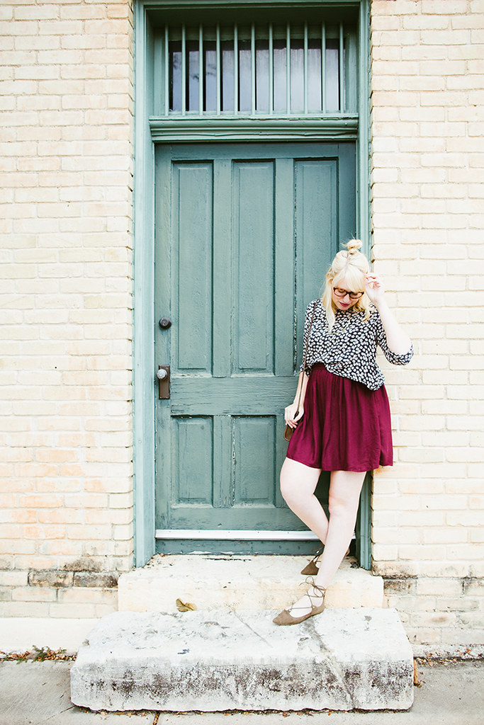 writes like a girl fall outfit colorblock jewel tones10