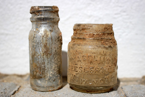 Interesting small bottles I dug up from our garden.