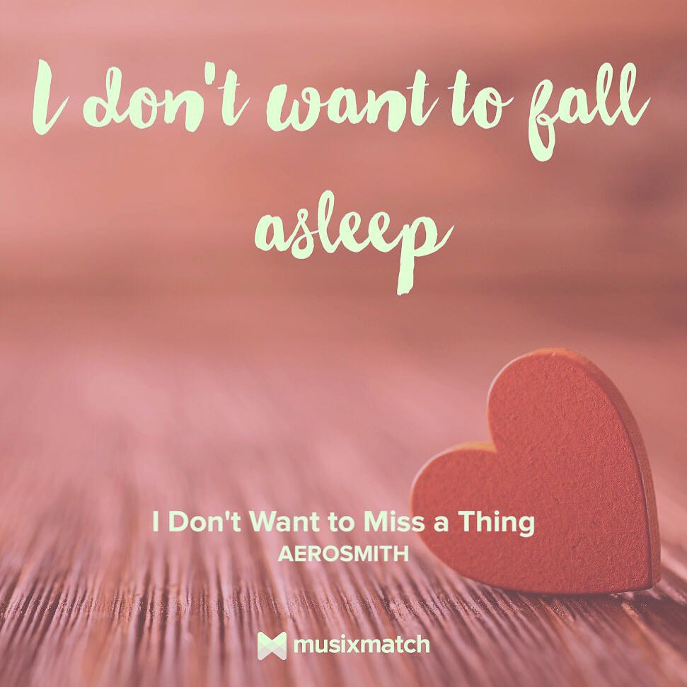 I am listening 🎶 | I don't want to miss a thing | by #Aer