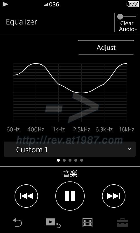 Sony Walkman A30 - equalizer