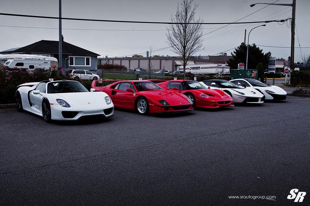 Supercar Line Up Porsche 918 Ferrari F40 Ferrari F50 Flickr