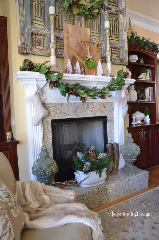 Christmas Mantel 2016 - Magnolia Garland - Magnolia Wreath - Housepitality Designs