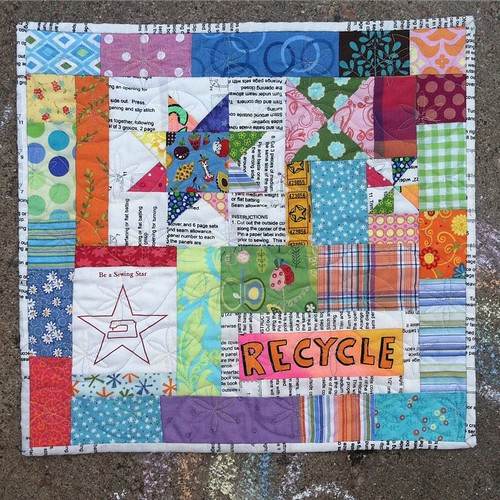 This is my favorite #miniquilt that I've ever made. A few years ago @mamasaidsew and @tinkerfrog hosted a contest to win a spot in a retreat led by @crazymomquilts. The challenge was to make something using scraps. That's my favorite kind of project! All | by greengroves22