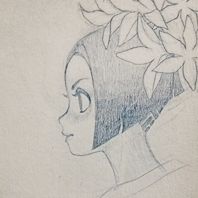 Lily: pencil sketch