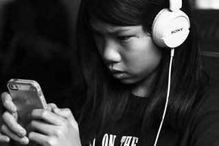 Chinese Girl iPhone and Headphones March 22, 2014 3 | by stevendepolo