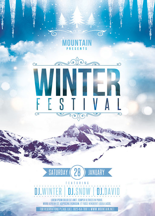 Winter Festival Flyer Template  You Can Download The Psd Fi  Flickr