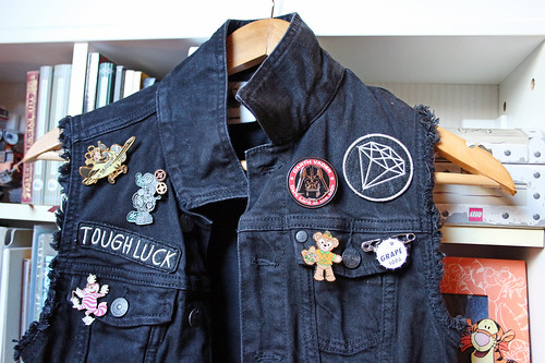 #FallIntoDisneyStyle, day 3 - denim + Disney pins