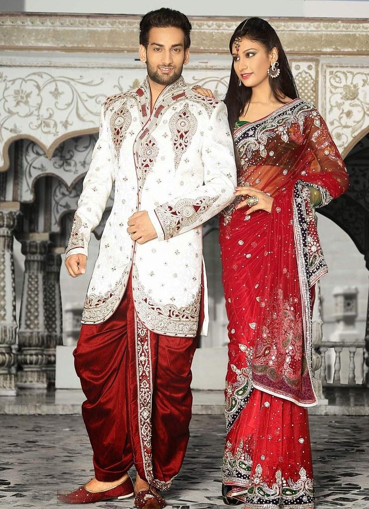 Off White Indian Designer Mens Sherwani With Dhoti