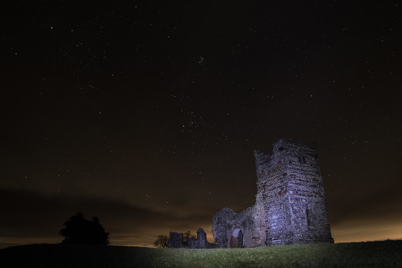 Knowlton Church night time