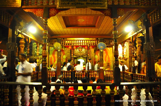 Evening Ceremony at the Temple of the Tooth Relic