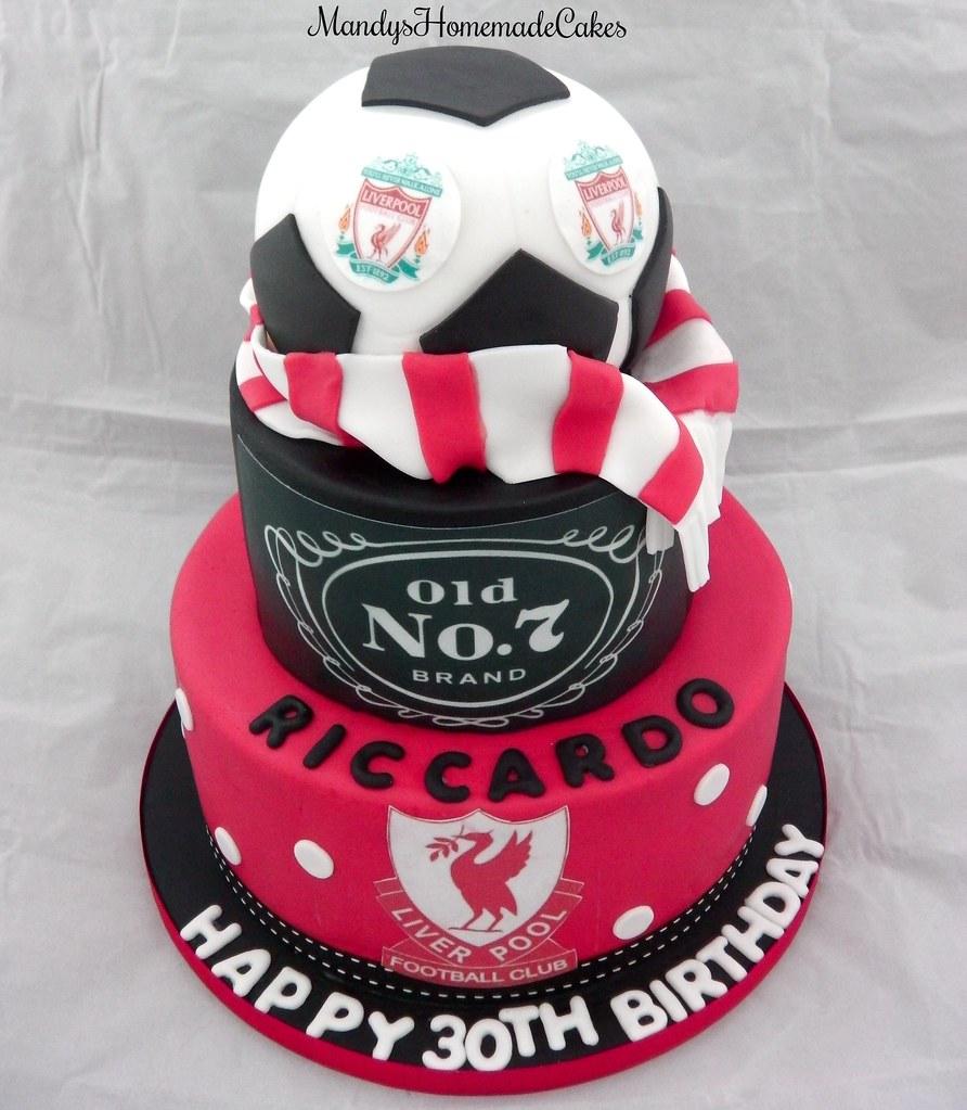 2 tier liverpool FC JackDaniels themed 30th Birthday Cel Flickr